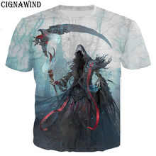 Nuevo heavy metal grim Reaper Skull camiseta hombres mujeres 3D estampado  moda cool hip hop estilo camiseta streetwear casual ve. 8798b8cc7e5