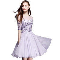 Brand Dress Summer Women High Quality Lace Embroidery Hollow Out Dress Casual Half Sleeve Slim Women