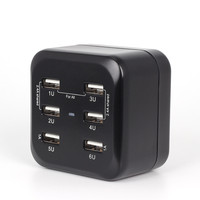 1A 2 4A Universal Adaptor Worldwide Travel Adapter With Built In 6 USB Charger Ports All