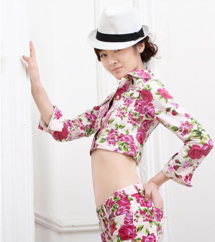 Imprimer Drop Printemps Courtes Gx1046 Nouvelles Mode Streetwear Vestes Complète Femme Style Manteaux Automne Shipping Print Manches De 2018 Tops Femmes 8qngfprW8