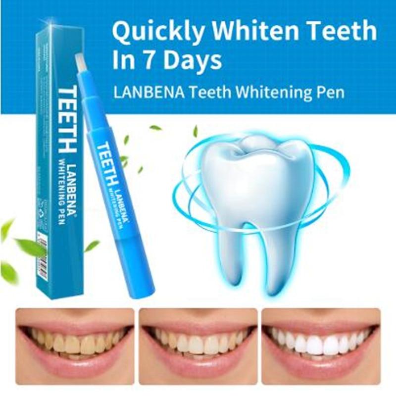 LANBENA Teeth Whitening Pen Cleaning Serum Removes Plaque Stains Dental Tools Oral Hygiene Tooth Gel Whitenning Brush Teeth 3 Ml