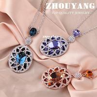 Top Quality Księżniczka Łzy Rose Kolor Złoty Naszyjnik Biżuteria Austriackie Kryształowy Hurtownie ZYN002 ZYN003 ZYN004