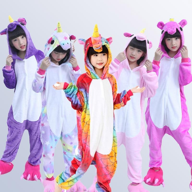 Set, For, Pajamas, Unicorn, Flannel, Children