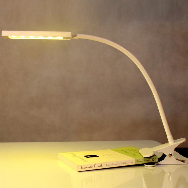 Luzes LED clipe, Lâmpadas de mesa regulável cor USB6W candeeiro de mesa