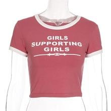 2019 women tshirt GIRLS SUPPORTING GIRLS print t
