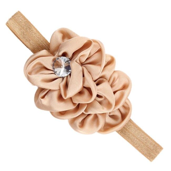 JEYL New Bandeau des Fleurs pour Bebes Filles Mousseline de Soie Beaute(brun clair)
