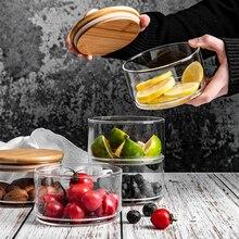 Трехэтажная Стеклянная банка для хранения с крышкой, минималистичный стеклянный контейнер для хранения конфет, еды, кухонный органайзер для дома