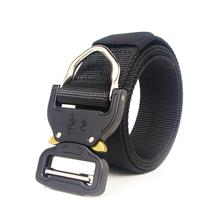 цены Tactical Belt For Men Military Style Nylon Belt Waist Band With Adjustable Heavy-Duty Quick Release Metal Buckle Waistband