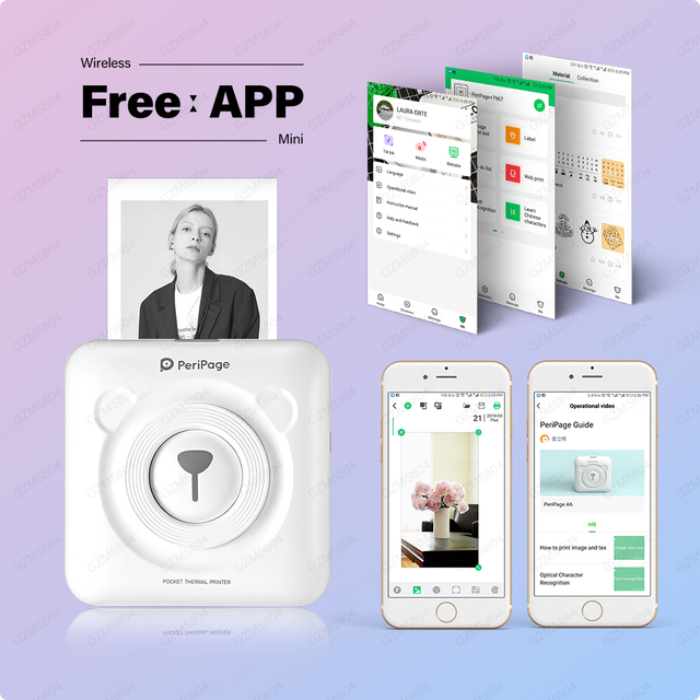 ¡Nuevo! 304 DPI Peripage Mini foto Bluetooth impresora bolsillo foto impresora para teléfono móvil Android e iOS niños mujeres regalos
