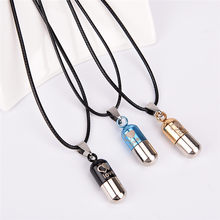 Ash Holder Mini Keepsake Jewelry Silver Stainless Steel Cremation Save Love Can Open Pills Pendant Necklace(China)
