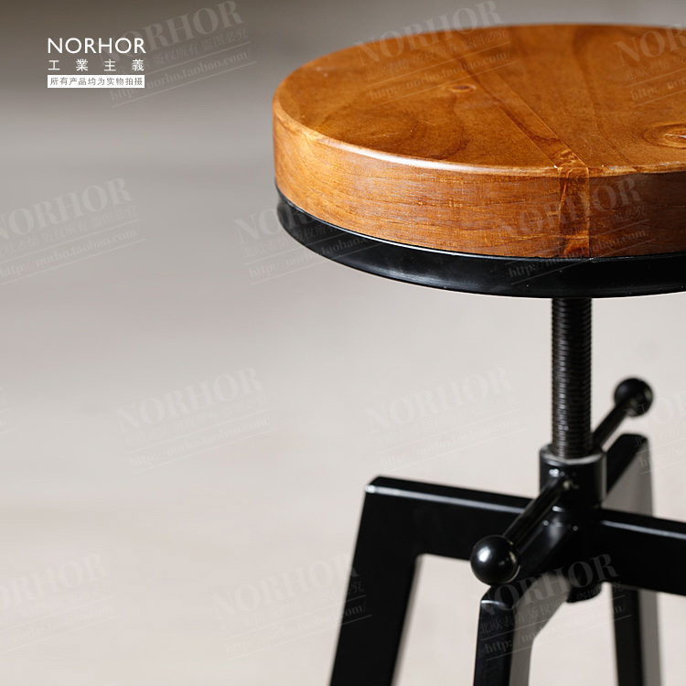 The Nordic Expression Vintage French Industrial Design Wrought Iron Chair  Bar Stool Lift Rotation In Bar Chairs From Furniture On Aliexpress.com |  Alibaba ...