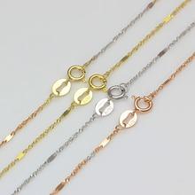 Authentic 18K Yellow Rose White Multi-tone Gold Necklace For Women Lady Girl Singapore Inter-slice Shining Fashion 2019