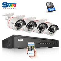 ANRAN Plug AND Play 4CH NVR POE Video Surveillanc System Onvif 1080P HD H 264 IR