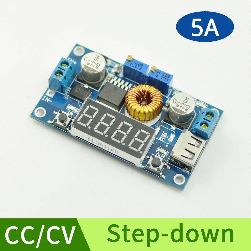 DC-DC Module Réglable Step-down Buck Tension Converter Réglementé Module D'alimentation LED Driver avec Voltmètre DIY Kit CC/CV