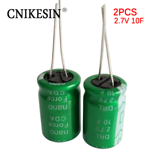 US $2 84 10% OFF|CNIKESIN 2PCS 2 7V 10F Super Capacitor 2 7V 1 0F Ultra  Capacitor -in Capacitors from Electronic Components & Supplies on