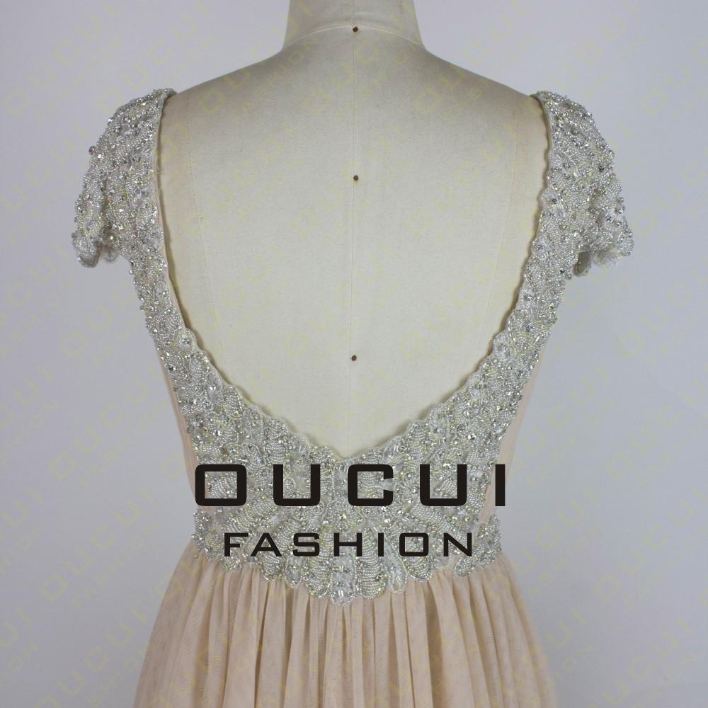 Tulle Fabric Pleat With Beading Handwork Bridesmaid Mermaid Long Prom Dress With Stones OL102785 vestido de festa de casamento 12