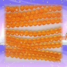 Разделитель стеклянные хрустальные бусины Оранжевый 10 мм 720 шт./пакет 32 граненый шар для свадебного украшения аксессуары