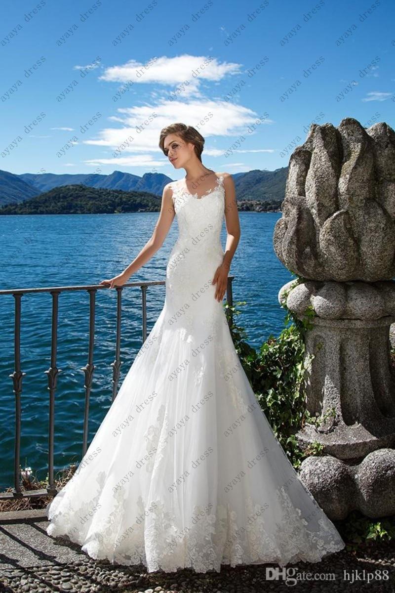 wejanedress Elegant White simple wedding dresses 2017 Lace wedding ...
