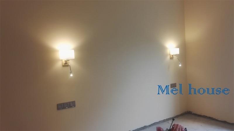 Appliques moderna lampada da parete in legno luci per camera da