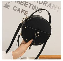 Leather Bag Women Shoulder Bag Tote Round Bag small Women's Handbag Size Bags Small For Ladies Fashion Black Brown Green Hotsale