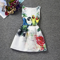 Fashion Little Girl Kid's Baby Dresses Animal Bird Pattern Print Party Casual Summer Dresses For Baby Girls 6 to 12 Years Age