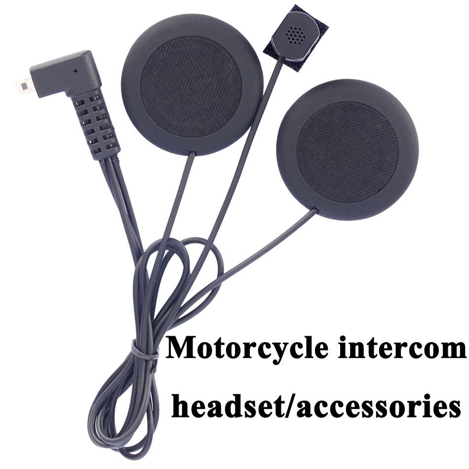 Moto intercom accessoires écouteurs doux écouteur microphone pour FDCVB T-COMVB TCOM-SC COLO moto casque bt interphone casque