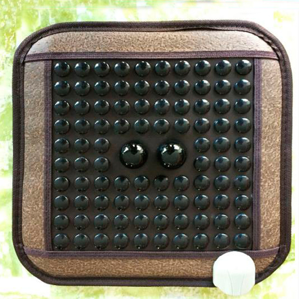 Electric Thermal Therapy Jade Cushion Electric Heated Jade Massage Heating Cushion 45*45CM Free Shipping hot sale jade cushion electric heated hot selling jade heating massage cushion 45 45cm