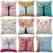 Style Tree Cushion Cover Nordic Simple Geometric Decorative Throw Pillows Covers for Sofa Polyester Cotton
