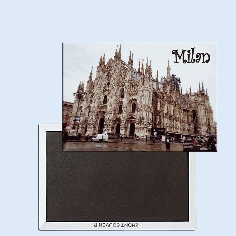 Milan Italy 24474 Fridge Magnet