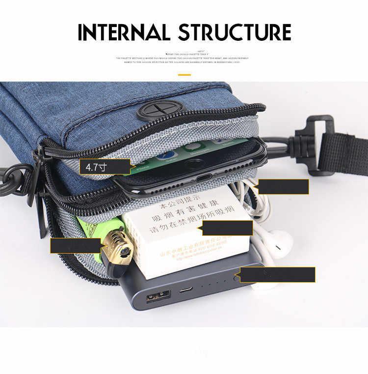 屋外防水ハンドバッグカジュアルポケットミニ携帯電話バッグ多機能ショルダーバッグ