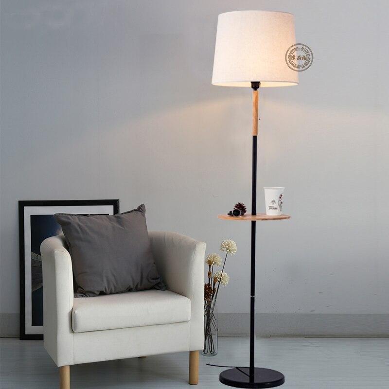 Room Lamps Bedroom: Nordic Modern Floor Lamp Living Wooden Room Lamp Bedroom