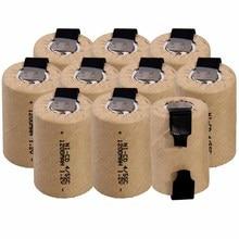 Самая низкая цена(10 шт.) 4/5SC батарея 1,2 v батареи перезаряжаемые 1200 мАч-гидридных и никель-кадмиевых типов аккумуляторов батарея для электроинструментов литий-ионный аккумулятор