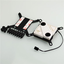CPU water cooling block 60X60mm micro channel design for Inter 115X.