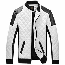 explosion  quilted collar young men to increase men 's leather wallet gram plus cotton leather jacket leather 100