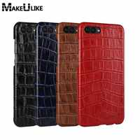 MAKEULIKE Genuine Leather Case For Huawei Honor V10 Fashion Protective Back Cover Coque For Huawei Honor V10 Case