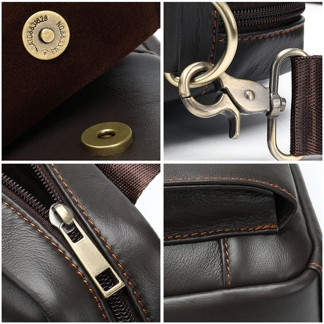 MVA Men's Shoulder Bag Men's Genuine Leather Men Handbag Man Bag Crossbody Bags For Men Business Messenger Bags Handbags 8568