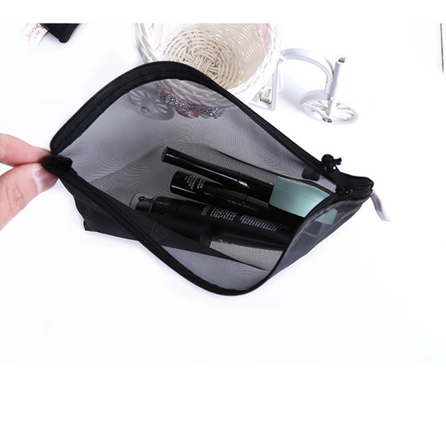 5pcs Casual Travel Cosmetic Bag Women Zipper Make Up Transparent Makeup Case Organizer Storage Pouch Toiletry Beauty Wash Bags Cosmetic Bags