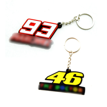 High quality PVC Rubber VR46 93 Motorcycle Key rings Keychain Motocross Keyring Moto Fans Souvenirs Gift For valentino rossi 46