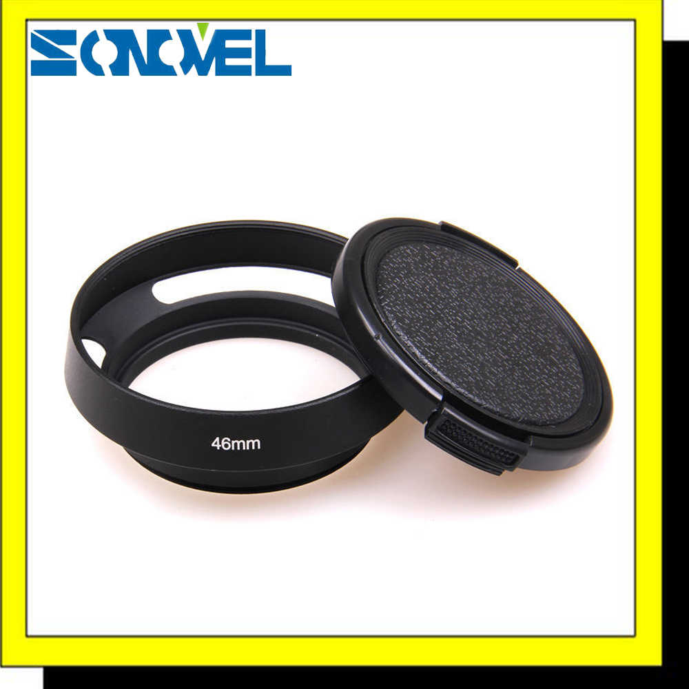46mm Screw-in metal tilted exalado Lens Hood cap + Lens para Leica M Olympus Panasonic Fujifilm Contax Zeiss Canon Sony Nikon
