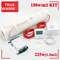 1.5SQM Underfloor Electric Heating Mat Kit For Infrared Floor, 220V, 225W, Wholesale T150 1.5