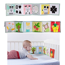Baby Toys Rattles Cloth-Book Around Kids for Bed-Bumper Knowledge Multi-Touch Colorful