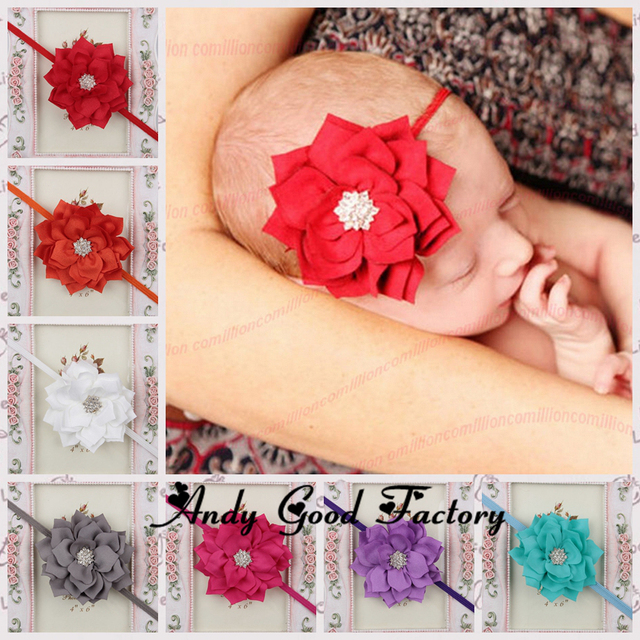 New chic lotus flower with star crystal baby headbands toddler girls new chic lotus flower with star crystal baby headbands toddler girls thin hair band infant headwear mightylinksfo