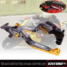 Leviers d'embrayage de frein de moto extensibles pliants de CNC pour SUZUKI GSX1250FA GSX650F GSX 650F 2008 - 2012 GSX-1250FA