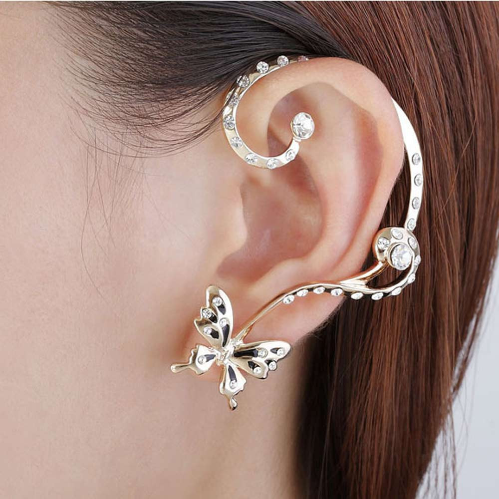 2018 New Fashion Womens Personalized Stud Earrings Two Different