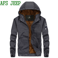 2017 Best Selling AFS JEEP Autumn High Quality Brand Men Hoodie Keep Warm Plus Cashmere Hoodie