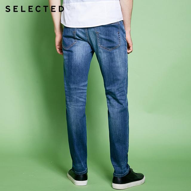 Men's Cotton-blend Slight Stretch Whiskers Wash Effect Slim Fit Jeans