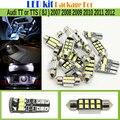 Автомобилей 2835 Светодиодная Лампа Белый Ошибка Бесплатный LED Комплект Пакет карта Купол Номерной знак Магистральные Свет Для Audi TT или TTS (8J) 2007-2012