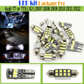 Car 2835 Interior LED Bulb White Error Free LED Kit Package Map Dome License Plate Trunk Light For Audi TT or TTS (8J) 2007-2012