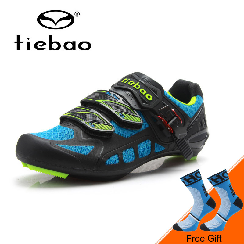 Tiebao Professional Road Bicycle Shoes Breathable Auto-lock Cycling Bicycle Shoes Skidproof Bike Shoes sapatilha ciclismo west biking bike chain wheel 39 53t bicycle crank 170 175mm fit speed 9 mtb road bike cycling bicycle crank