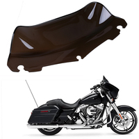 9 Bicicleta Motorcycle Windshield Scooter Windscreen Cafe Racer Wind Deflectors MTB For Harley Touring Electra Glide 2014 2016